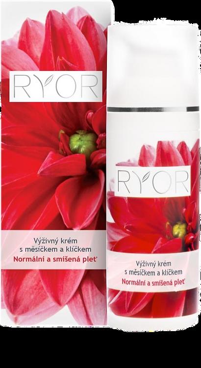 Поживний крем з оліями календули та паростків (дозатор) RYOR