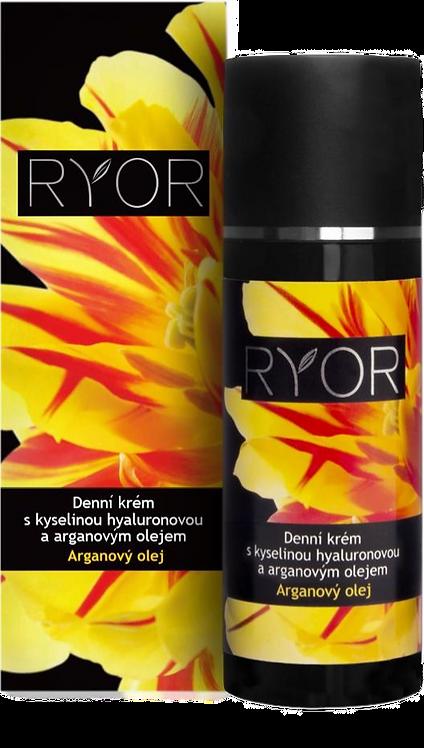 Дневной крем с гиалуроновой кислотой и аргановым маслом