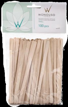 Шпатель дерев'яний ItalWax в упаковці, вузькі, 6х140 мм, 100 шт.