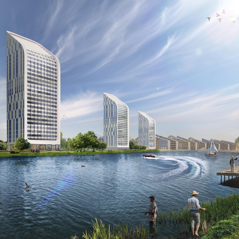 Mixed-Use Development on Kama River