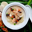 Diced Winter Melon w/Seafood Soup