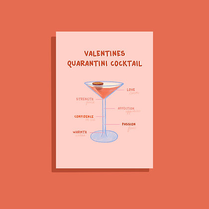 Valentines Quarantini Wenskaart