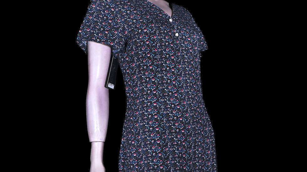 Vestido Estampado de Rayon