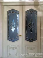 витражные двери в Уральске