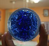 Барельеф из синего стекла