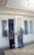 Установка витражных дверей