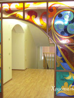 межкомнатная арка. техника тиффани