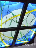 потолок тиффани с освещением