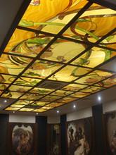 Витражный потолок в ресторане У ПАЛЫЧА