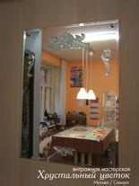 Стеклянные барельефы на зеркале