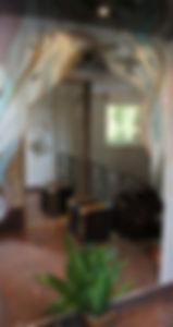витражное зеркало из фацетных элементов