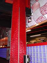 Оклейка столба 3Д пленкой