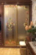 Витраж для шкафа-купе с декором
