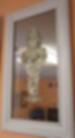 барельеф из матового стекла