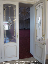 Витражные двери в ресторане. г. Уральск. Казахстан