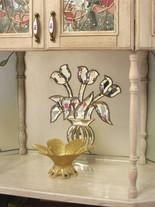 Хрустальный букет на матовом зеркале