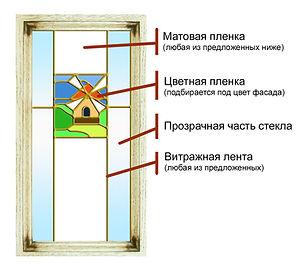 Фасад с витражем