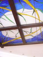 потолок тиффани без освещения
