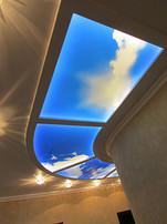 фото-витраж на потолке