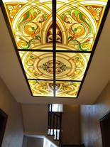 Витражный потолок в частном доме