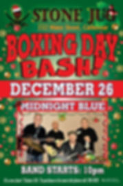 Stone Jug poster Boxing Day Bash, 2019 (