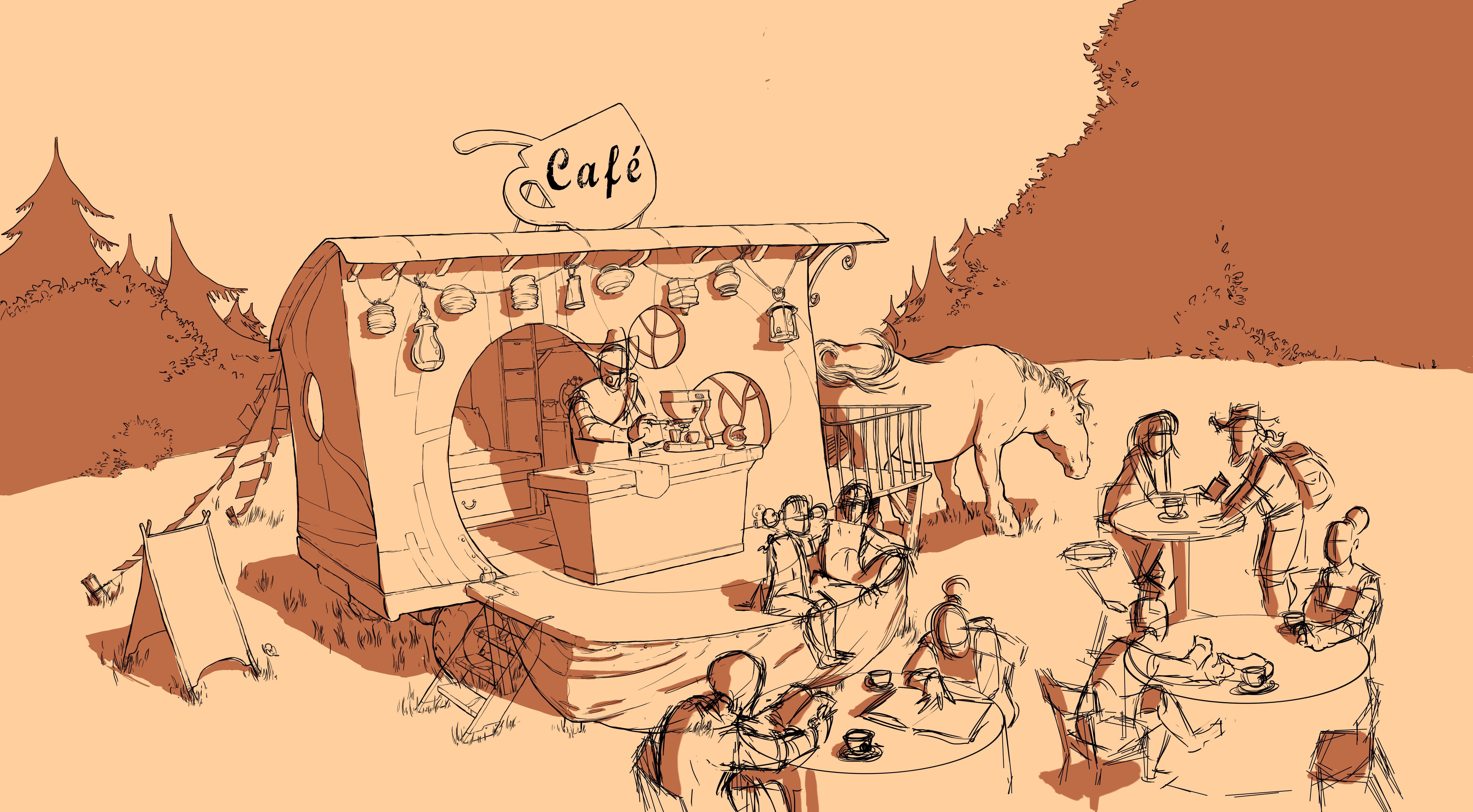 Ex roulotte : café