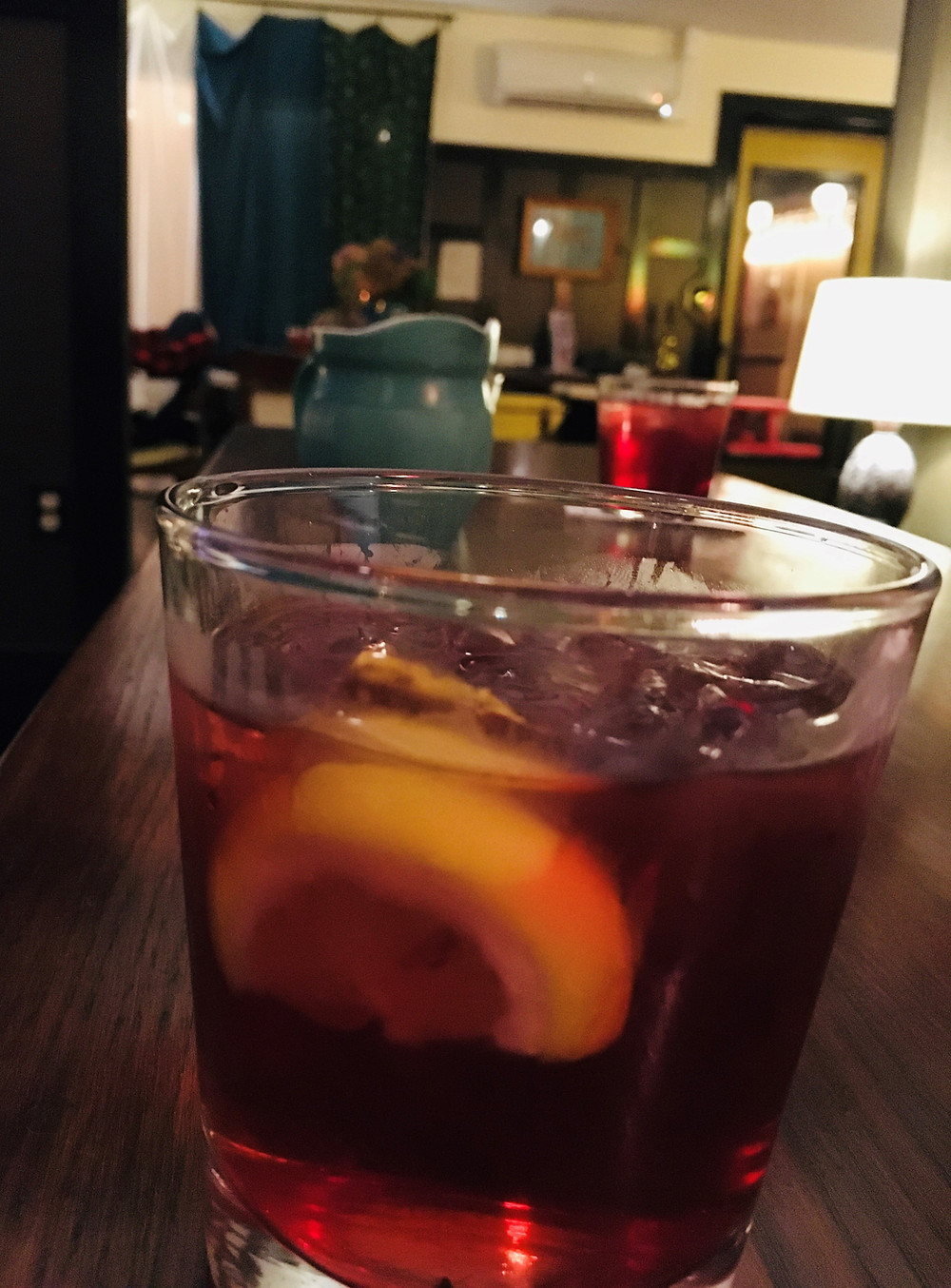 The Red Needle, a classic cocktail
