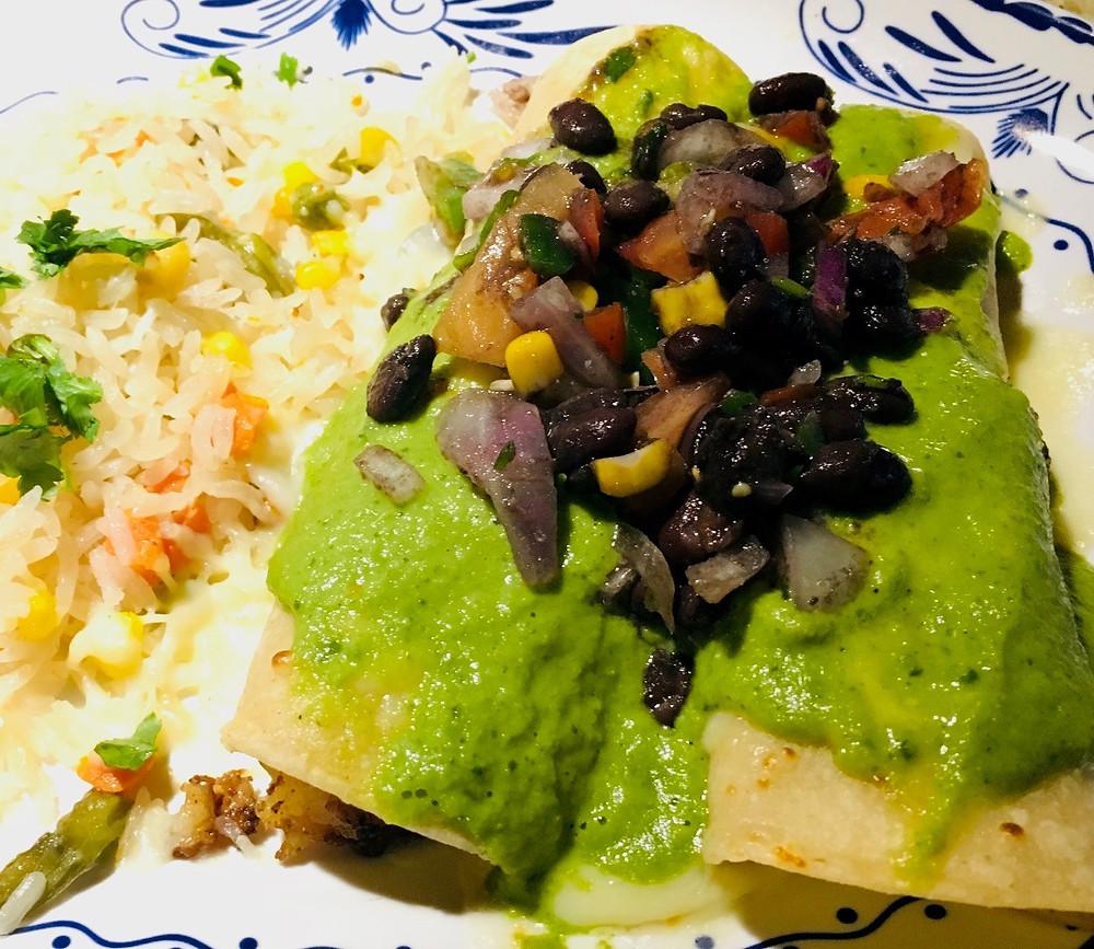 Shrimp Enchiladas at Roca