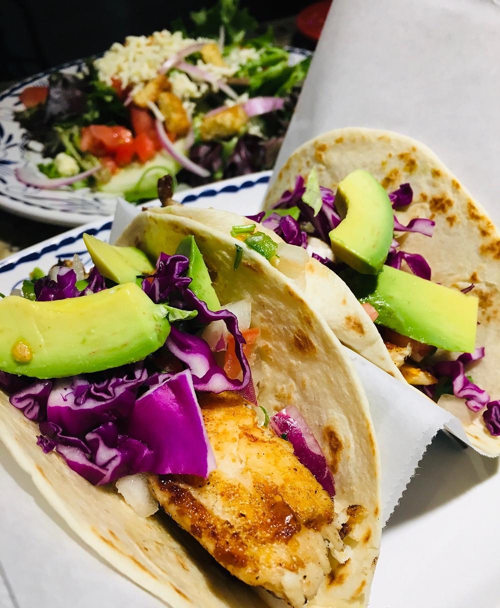 Fish Tacos at Roca