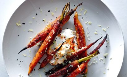Roasted Carrots with Honey Lavender Glaze