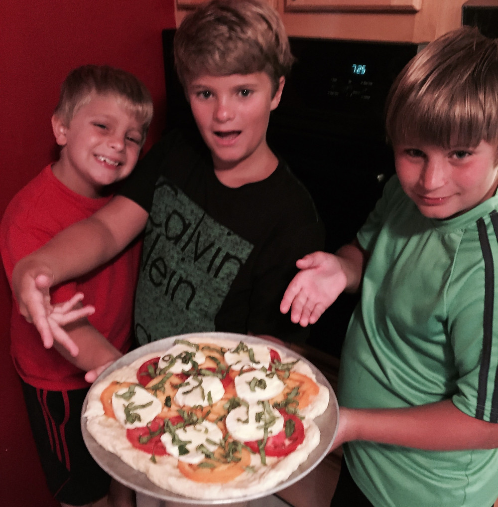 Pizza Night! They cooked ... and nailed it!