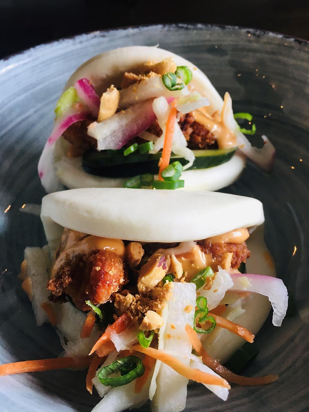 Bao buns from Barkada's restaurant