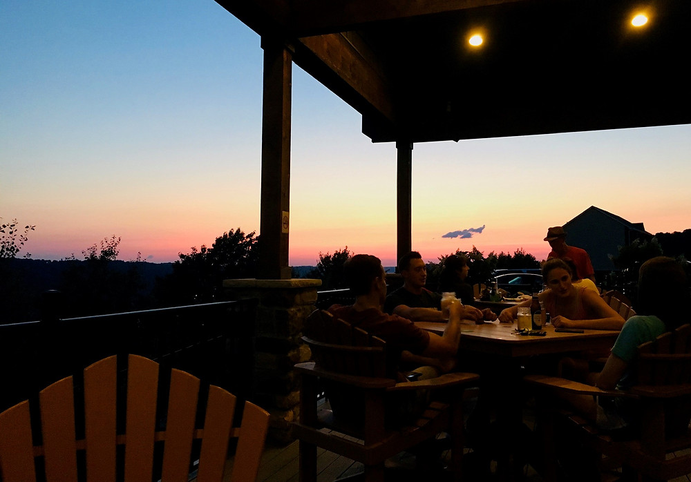 Sunset at The Lookout Bar & Grill