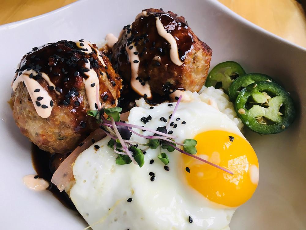 Teriyaki Banh Mi Meatball Bowl from The Block