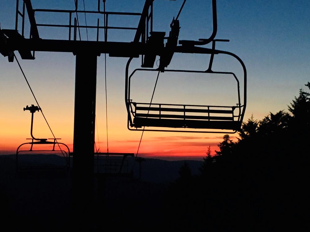 Sunset at Snowshoe Mountain