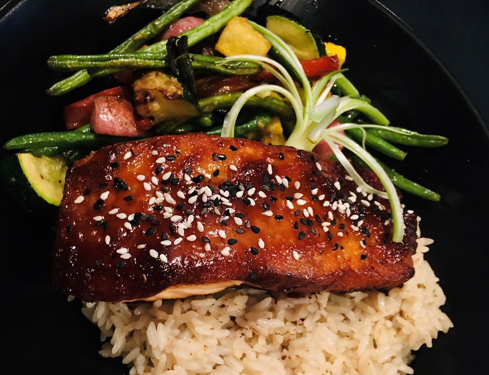 Soy-Glazed Salmon from Berry Hills Country Club