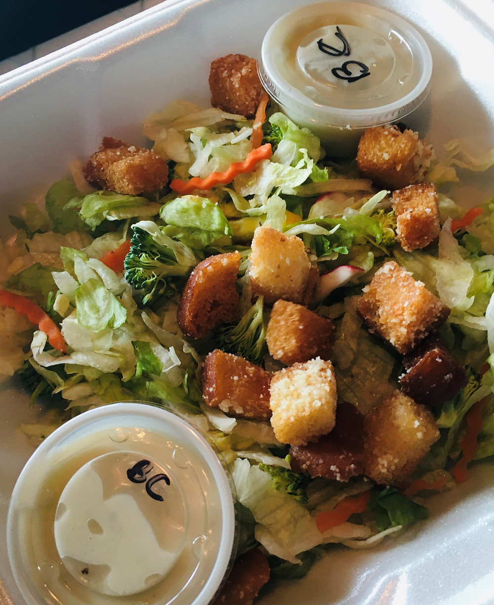 Garden salad with housemade croutons