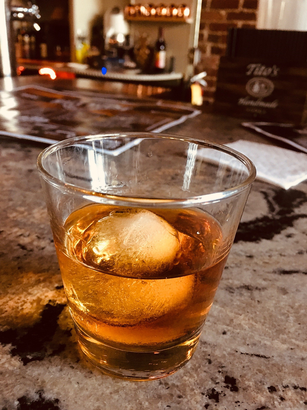 A shot of Weller Antique bourbon