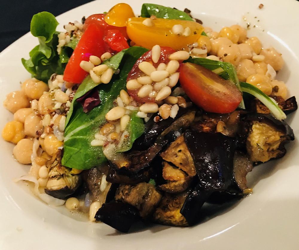 Eggplant-Tomato-Farro Salad from Berry Hills