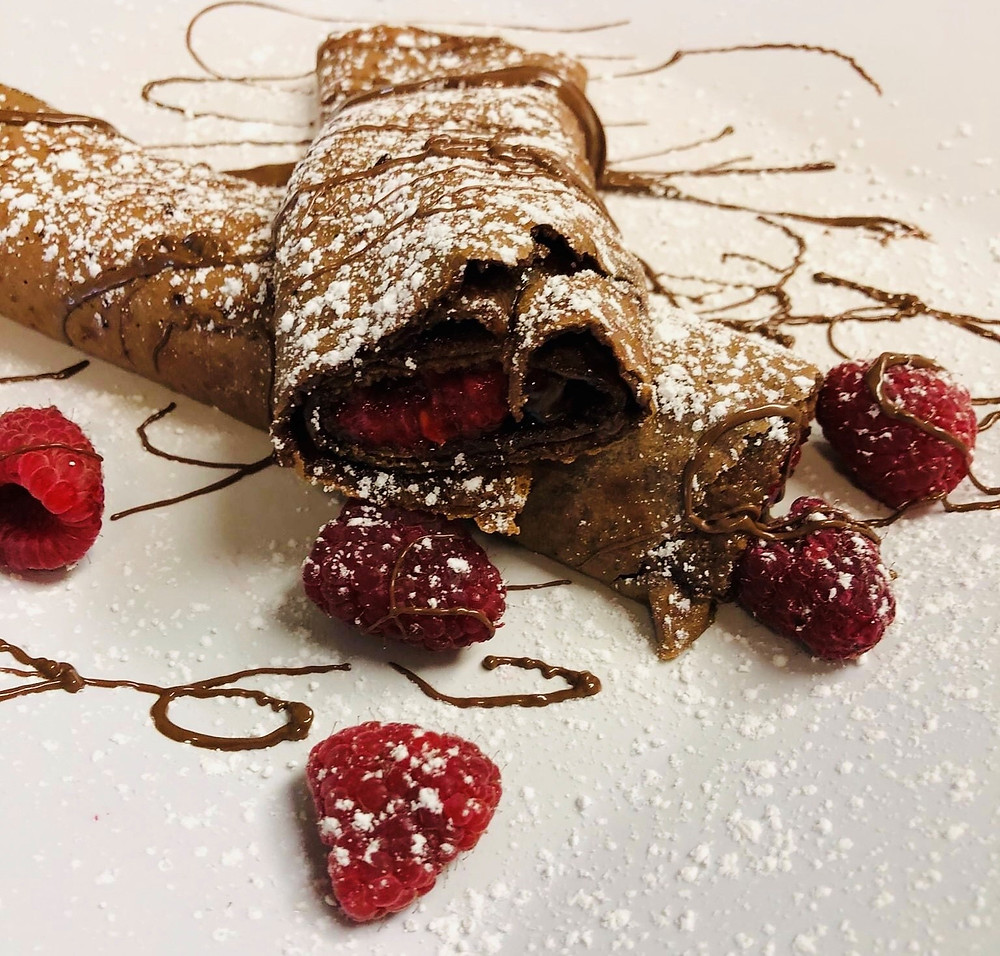 Chocolate Raspberry Crepe