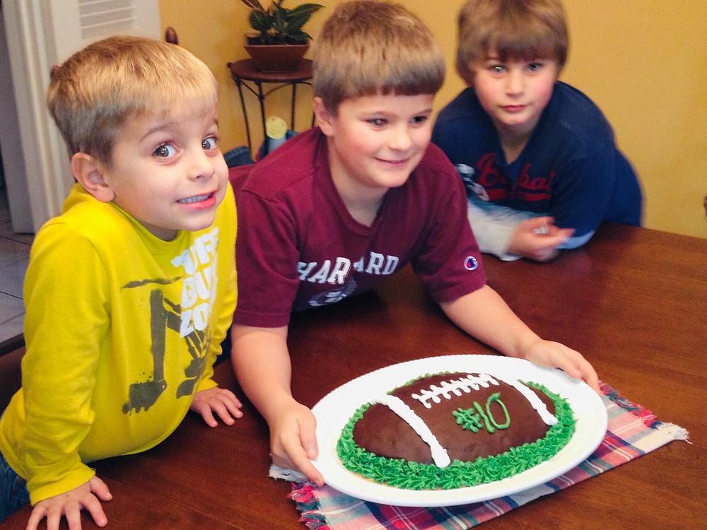 Ryan, Adam & Isaac Keith. But I made the cake!