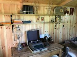 Shepherds hut for a keen reader