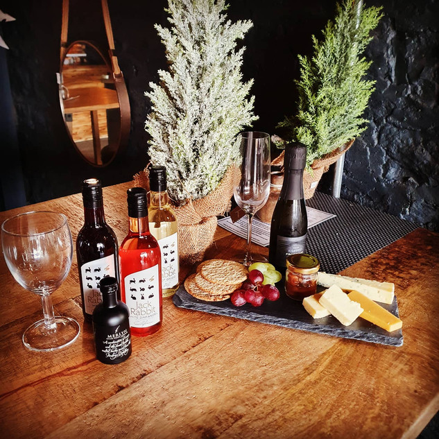Cheese and wine at The lounge Llandeilo
