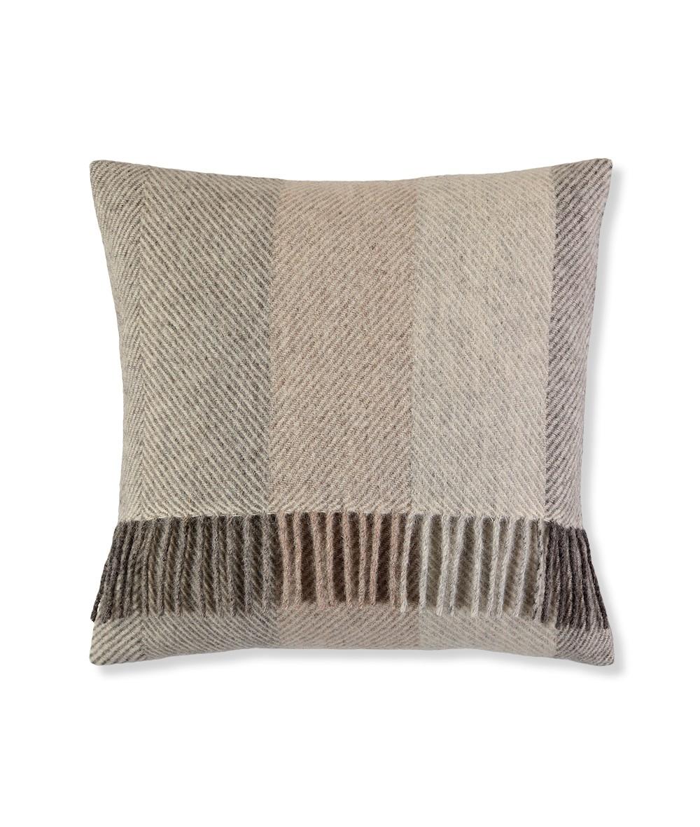 100% wool herringbone cushion