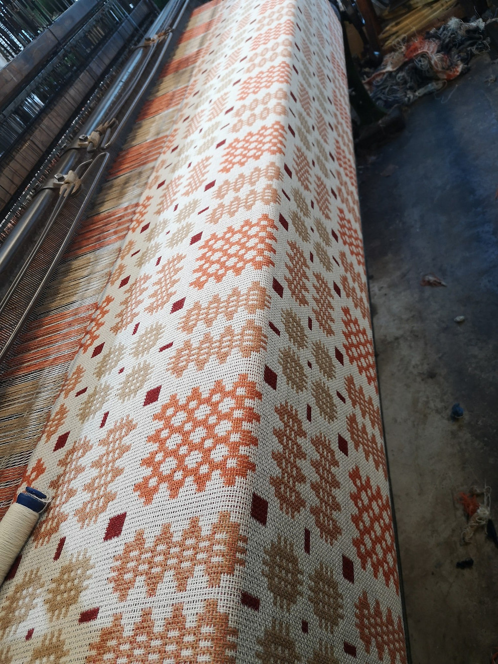 Welsh Blanket milled on traditional machinery