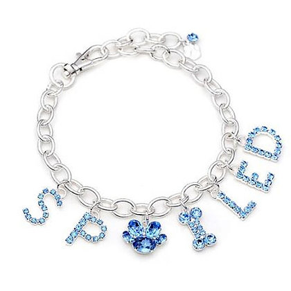Spoiled Charm Dog Necklace Blue