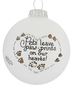 Pets Leave Paw Prints Christmas Ornament