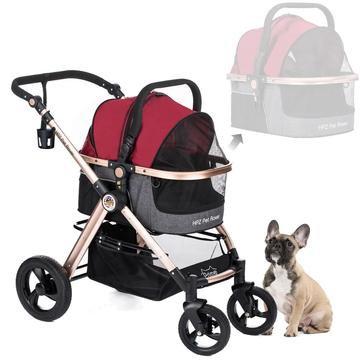 Pet Rover Prime 3-in-1 Dog Stroller Red