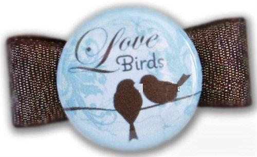 Love Birds Dog Hair Bow
