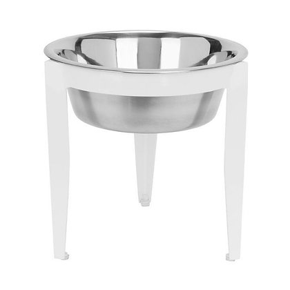 Vision Indoor/Outdoor Single Dog Diner White